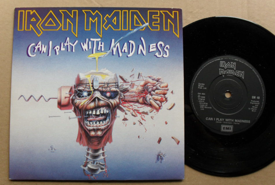 IRON MAIDEN - Can I Play With Madness LP