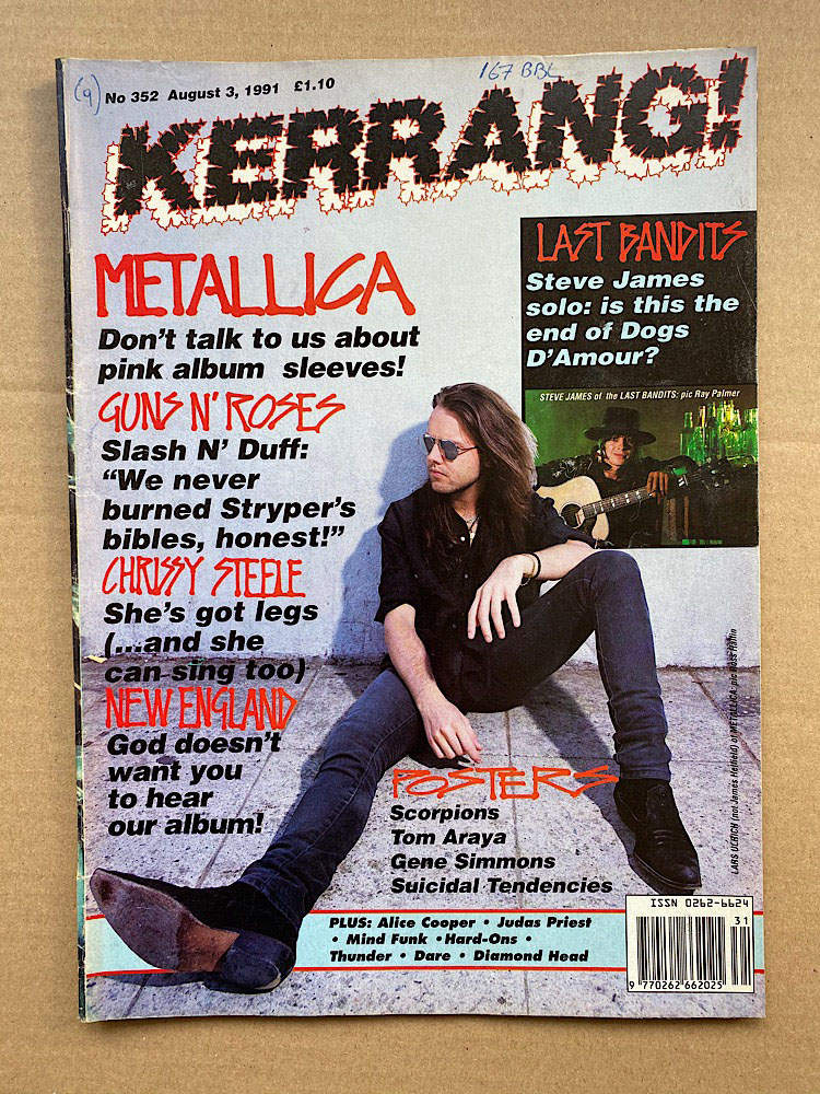 METALLICA - Kerrang No.352