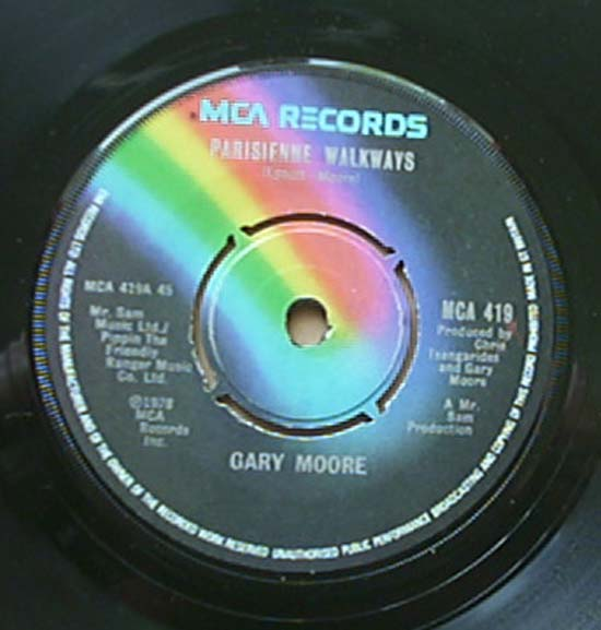 GARY MOORE - Parisienne Walkways Record