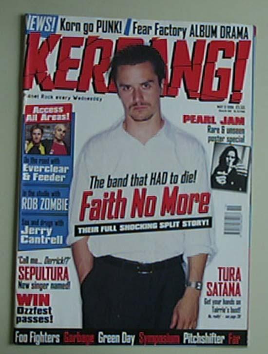 FAITH NO MORE - KERRANG NO.698