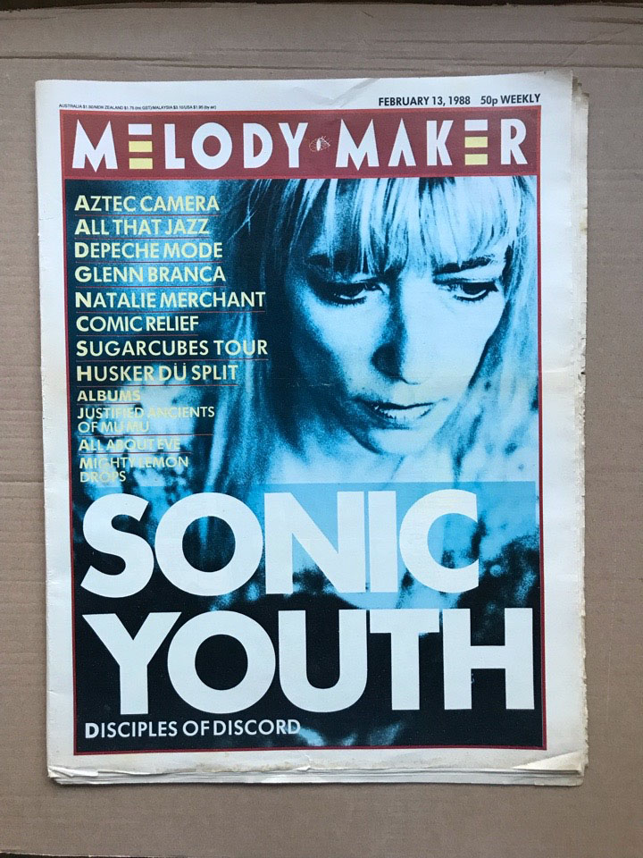 SONIC YOUTH - MELODY MAKER - Magazine