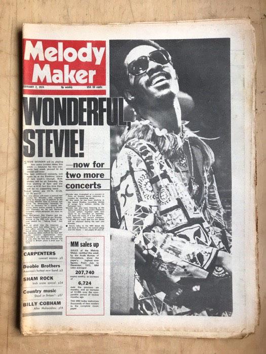 STEVIE WONDER - MELODY MAKER - Magazine