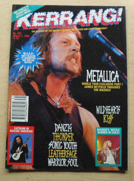 METALLICA - Kerrang No.403