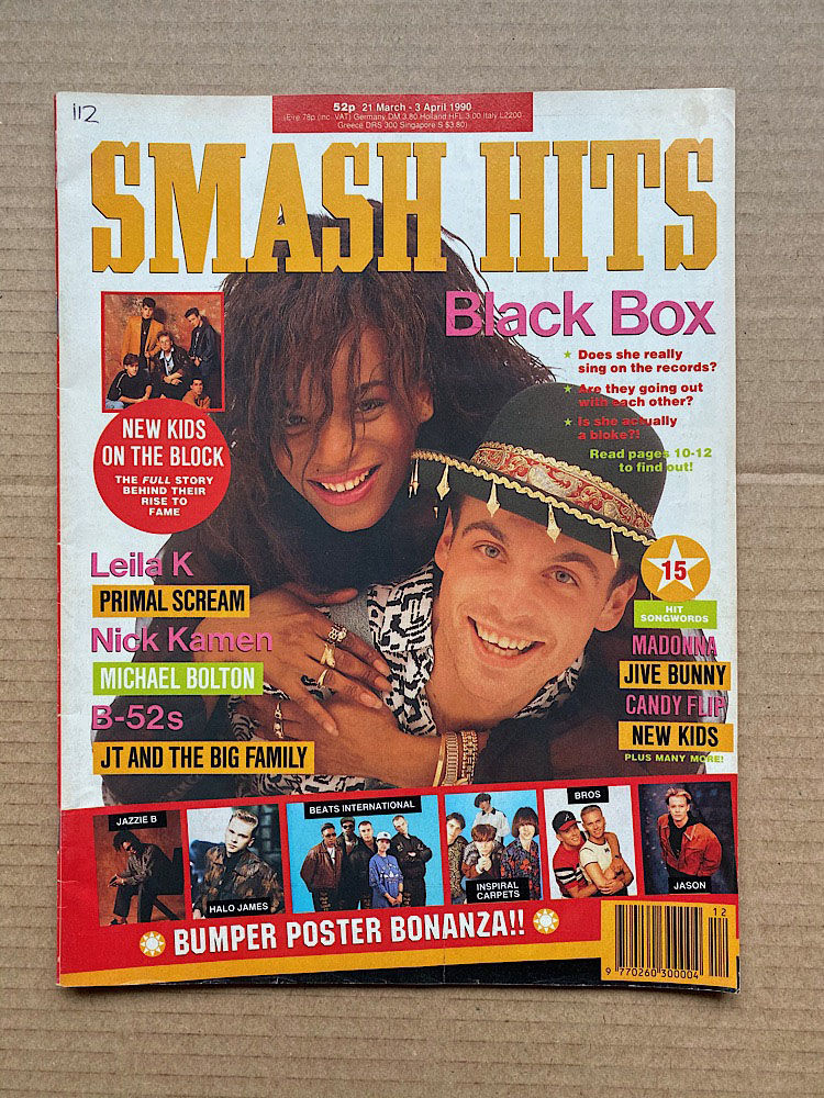 BLACK BOX - SMASH HITS - Magazine