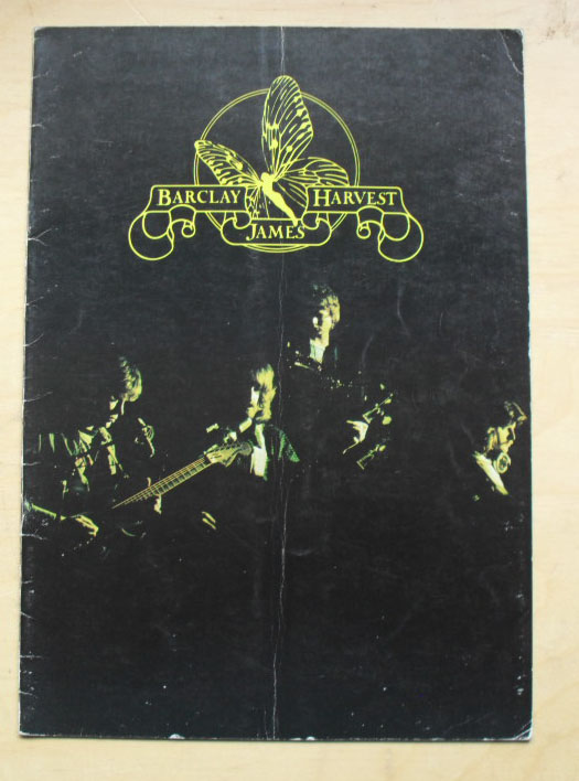 BARCLAY JAMES HARVEST - GONE TO EARTH 1977 TOUR - Programme Concert