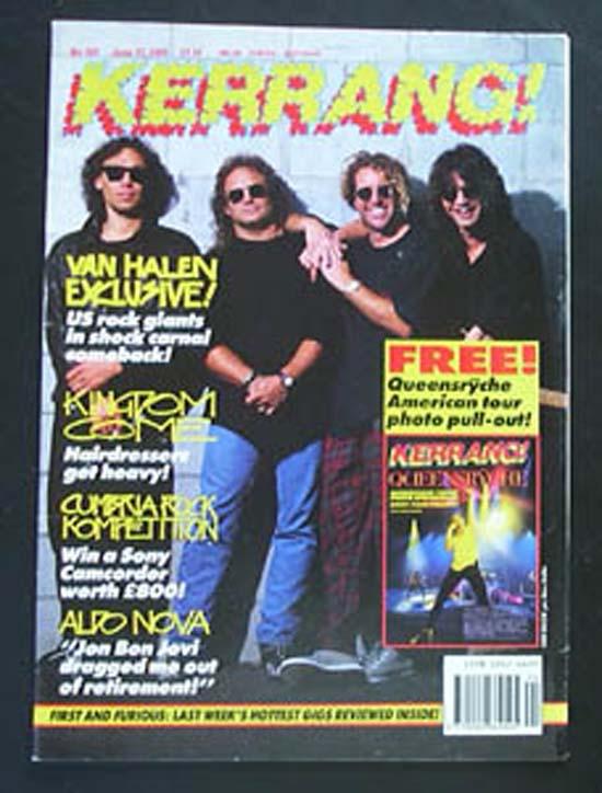 VAN HALEN - Kerrang No.345