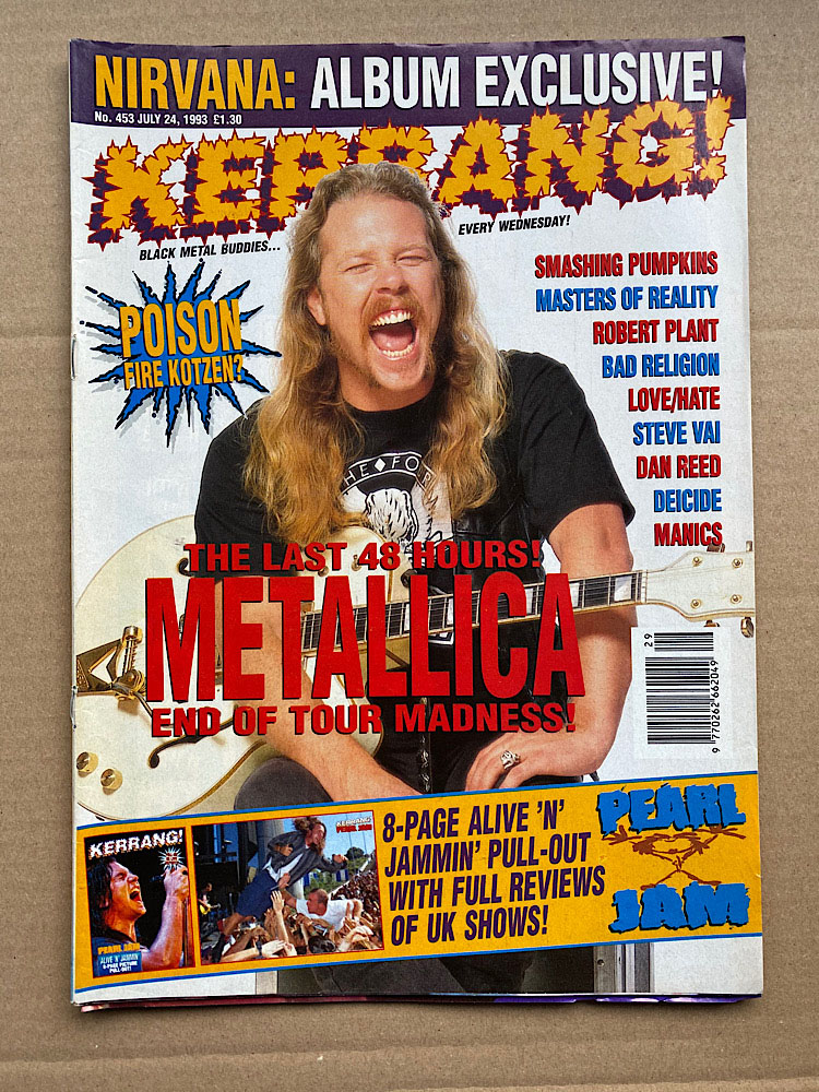 METALLICA - Kerrang No.453