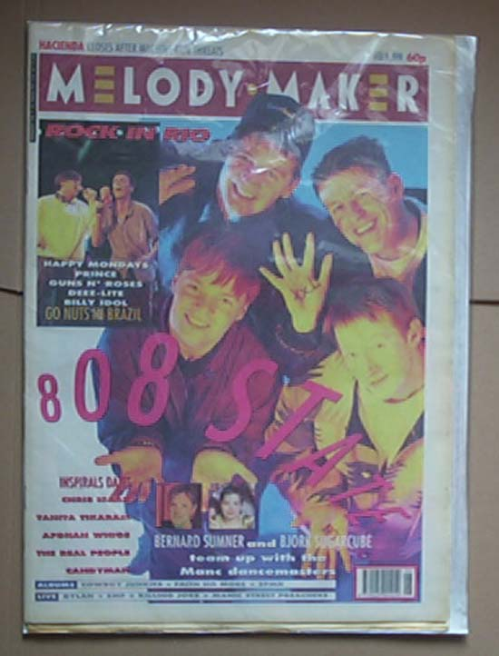 808 STATE - MELODY MAKER - Magazine