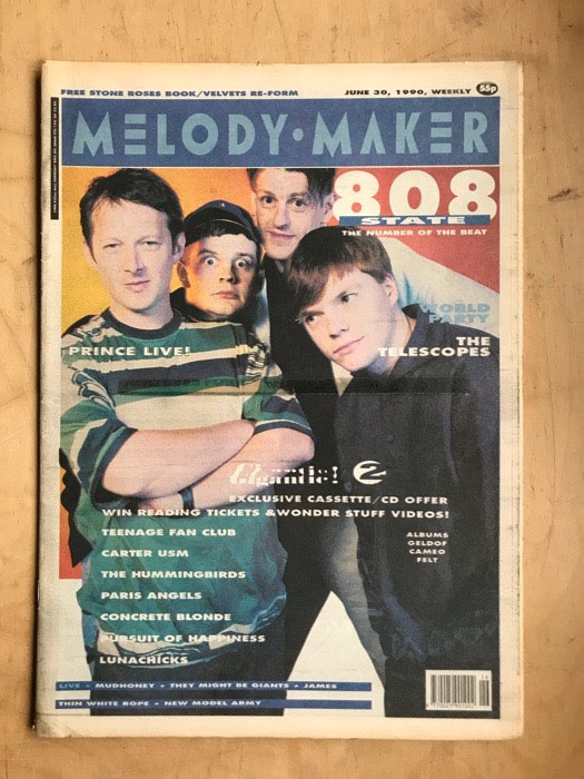 808 STATE - MELODY MAKER - Magazine