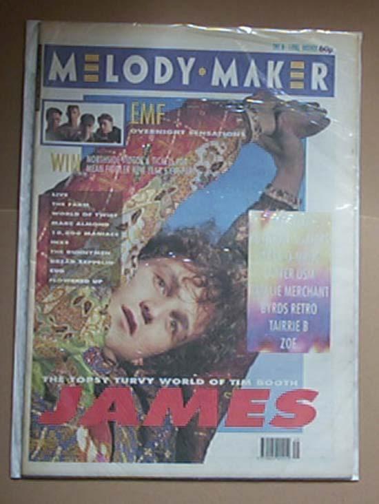 JAMES - MELODY MAKER - Magazine