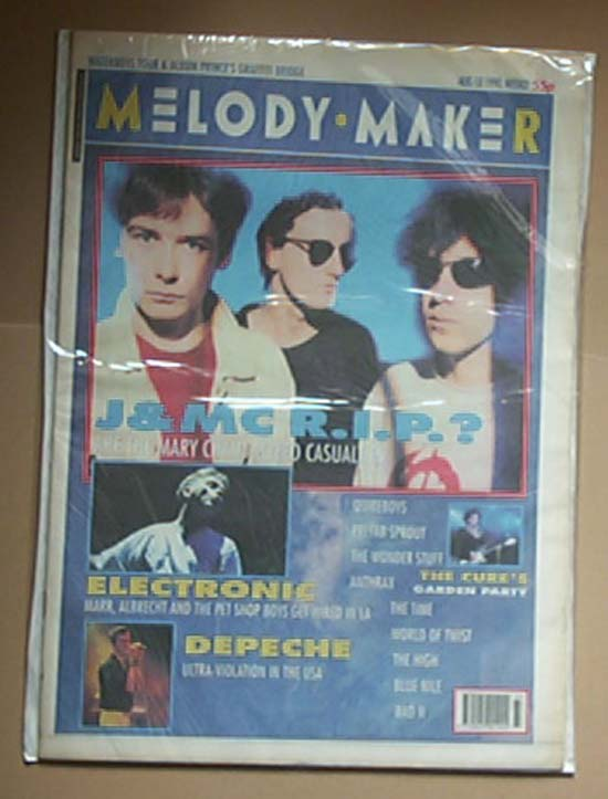 JESUS AND MARY CHAIN - MELODY MAKER - Magazine