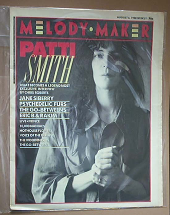 PATTI SMITH - MELODY MAKER - Magazine