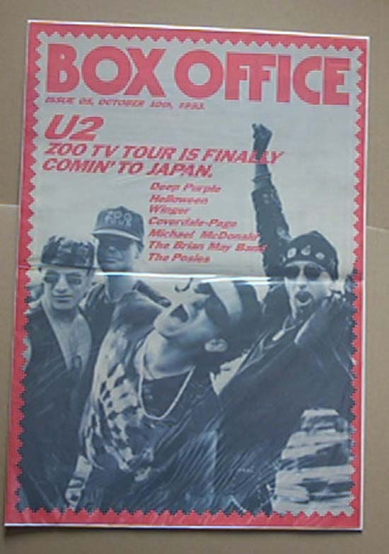 U2 - BOX OFFICE