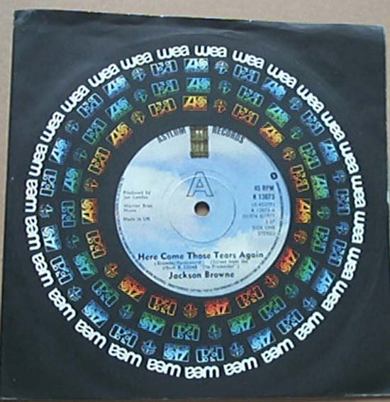 JACKSON BROWNE - Here Come Those Tears Again Record
