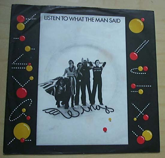 WINGS - Listen To What The Man Said Vinyl
