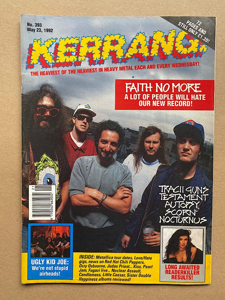 FAITH NO MORE - KERRANG NO.393