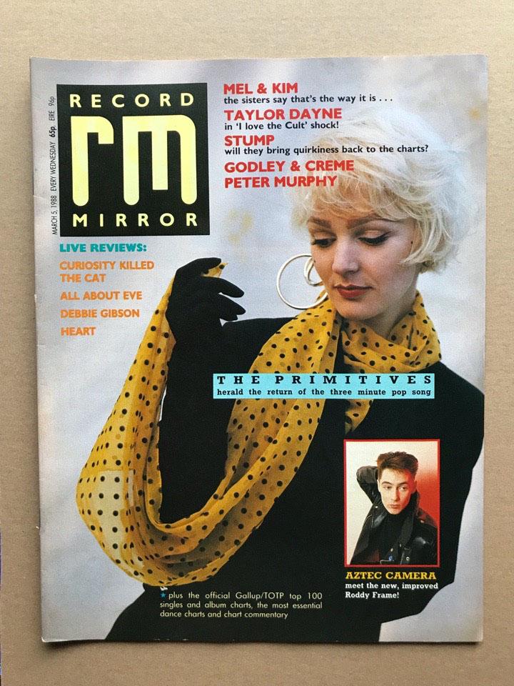 PRIMITIVES - RECORD MIRROR - Magazine