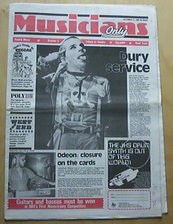 IAN DURY - MUSICIANS ONLY