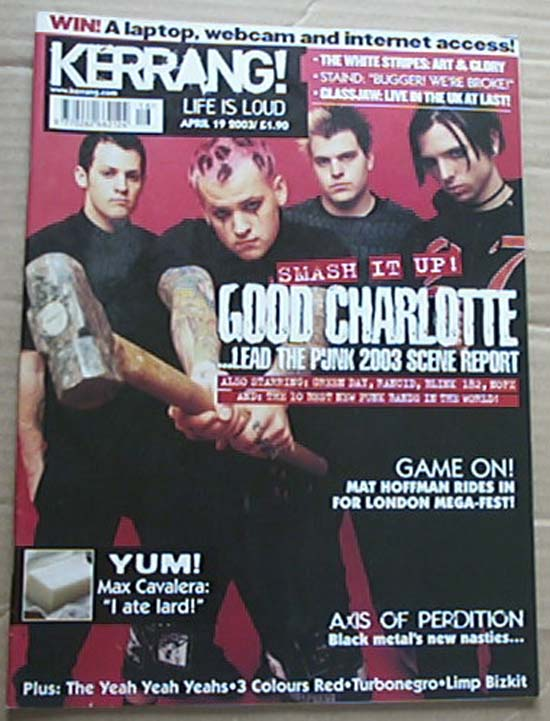 GOOD CHARLOTTE - KERRANG NO.951 - Magazine