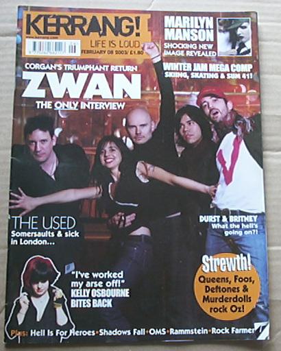ZWAN - KERRANG NO.941