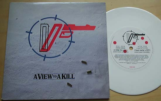 DURAN DURAN - A View To A Kill (white)