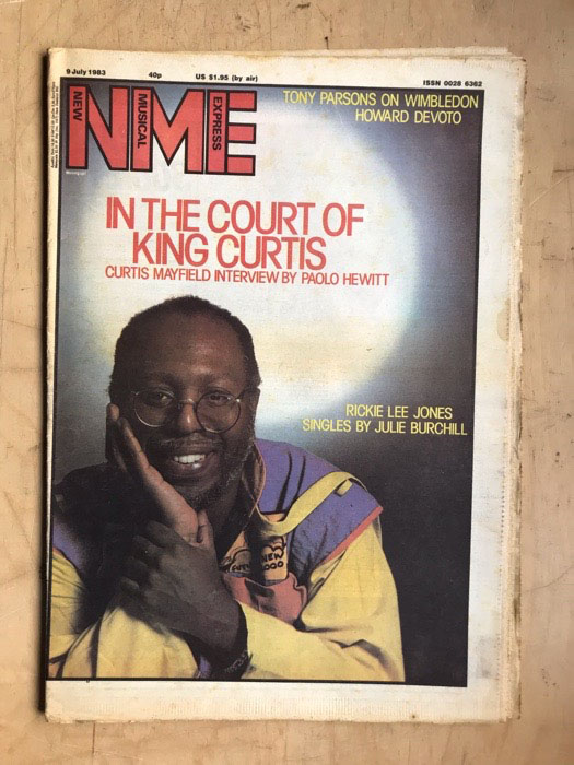 CURTIS MAYFIELD - NME - Magazine