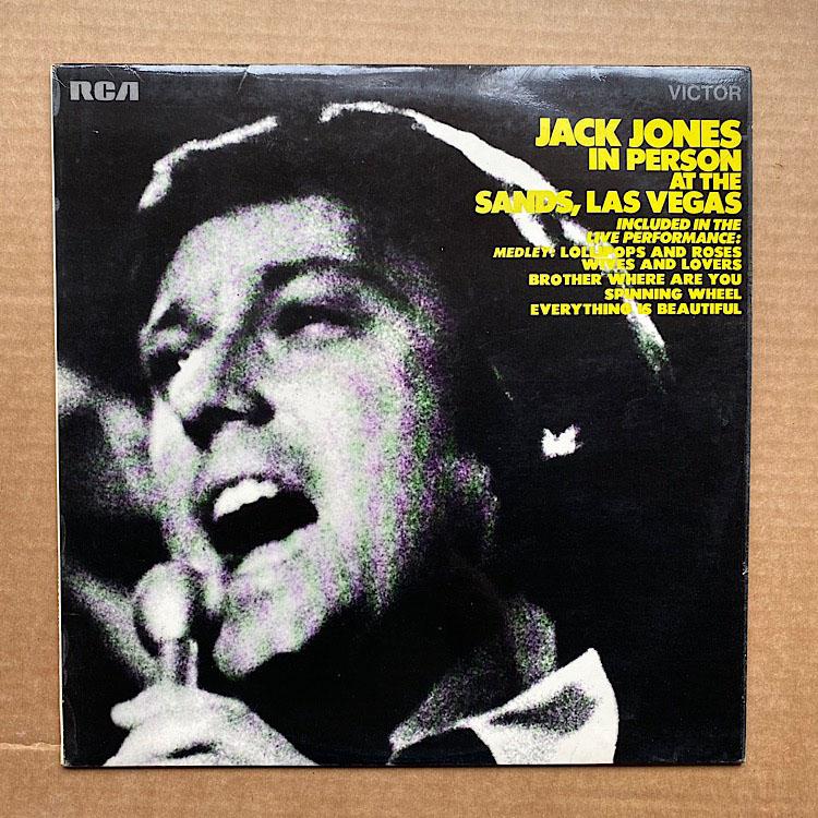 JACK JONES - IN PERSON AT THE SANDS,LAS VEGAS