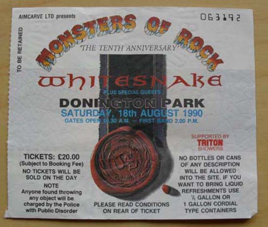 WHITESNAKE - Donington Monsters Of Rock