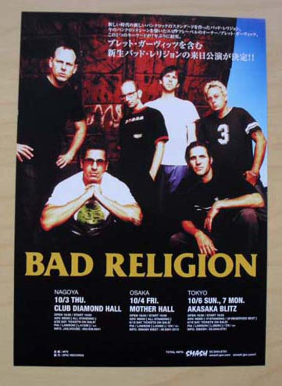 BAD RELIGION - JAPANESE TOUR