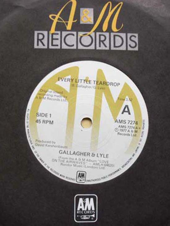 GALLAGHER & LYLE - EVERY LITLE TEARDROP
