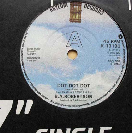 B.A. ROBERTSON - DOT DOT DOT