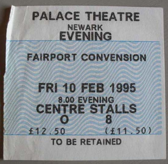 FAIRPORT CONVENTION - NEWARK PALACE THEATRE