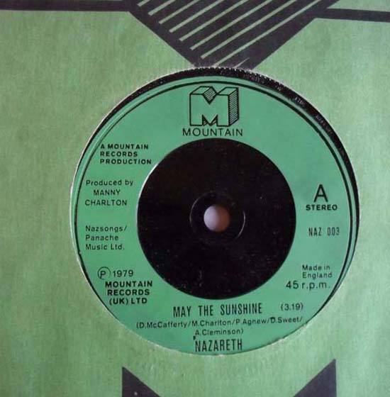 Nazareth May The Sunshine Records Lps Vinyl And Cds