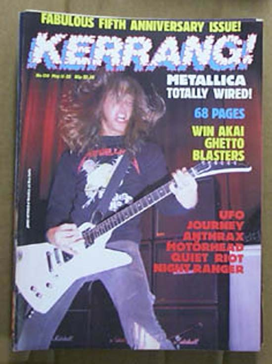 METALLICA - Kerrang No.120