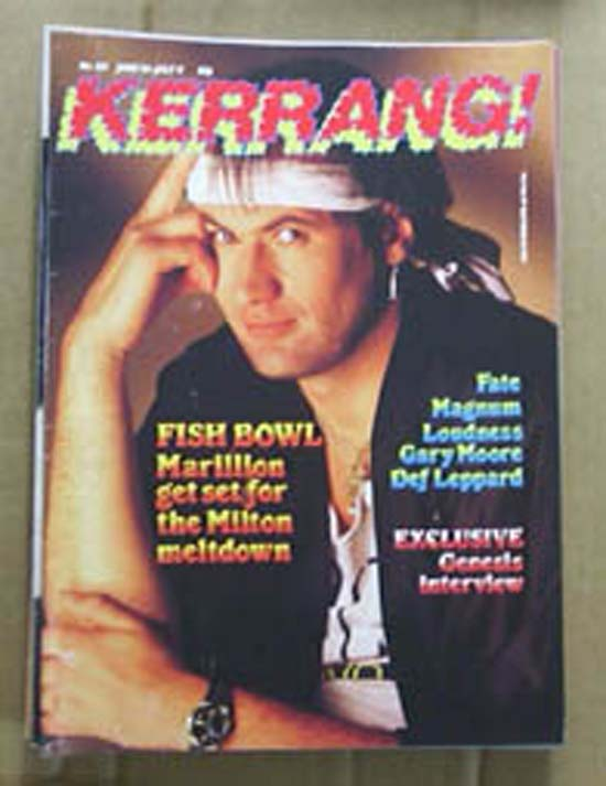 MARILLION - KERRANG NO.123 - Magazine