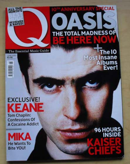 Q Magazine (all Magazines Are Complete And Pristine With No Tears, Cuts, Marks, Writing, Creases, Et - OASIS