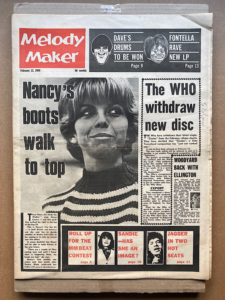 NANCY SINATRA - MELODY MAKER