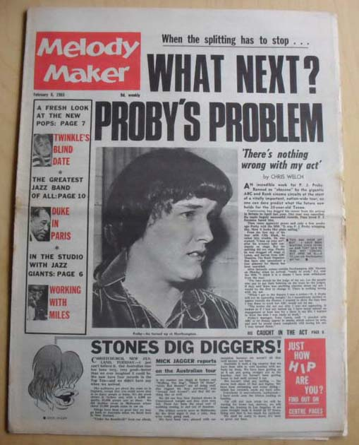 P J PROBY - MELODY MAKER
