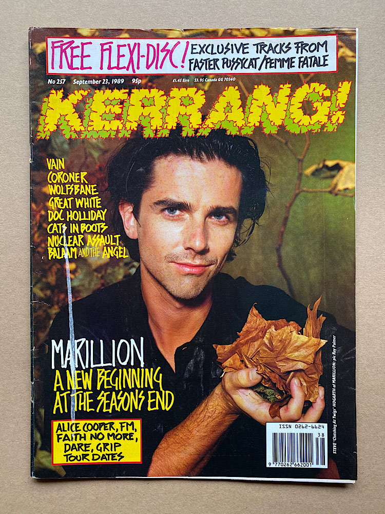 MARILLION - KERRANG NO.257 - Magazine