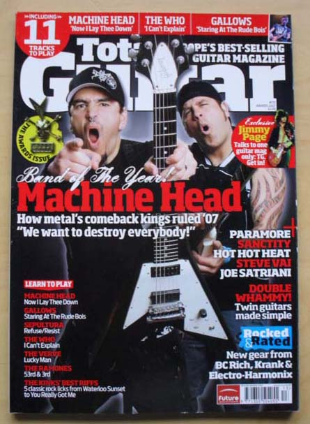 MACHINE HEAD - TOTAL GUITAR #170