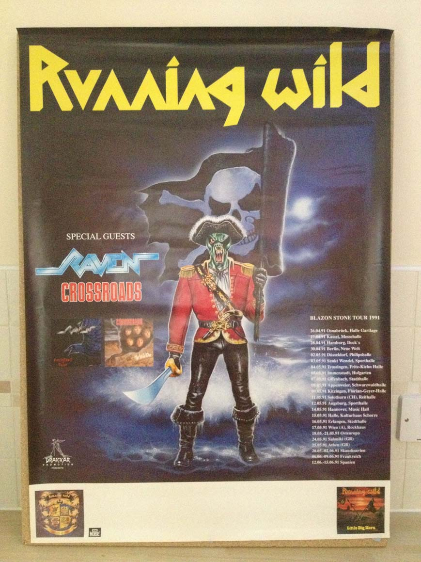 RUNNING WILD - Blazon Stone Tour 1991