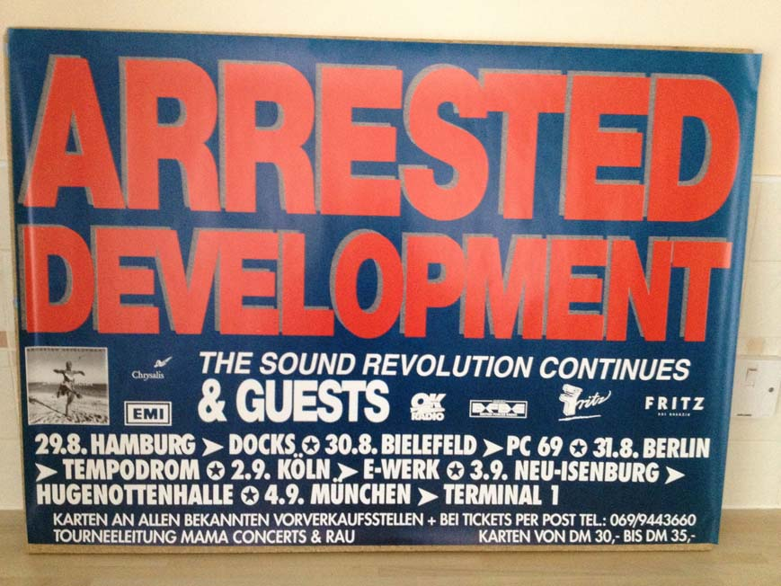 ARRESTED DEVELOPMENT - SECOND REVOLUTION CONTINUES TOUR - Poster / Display