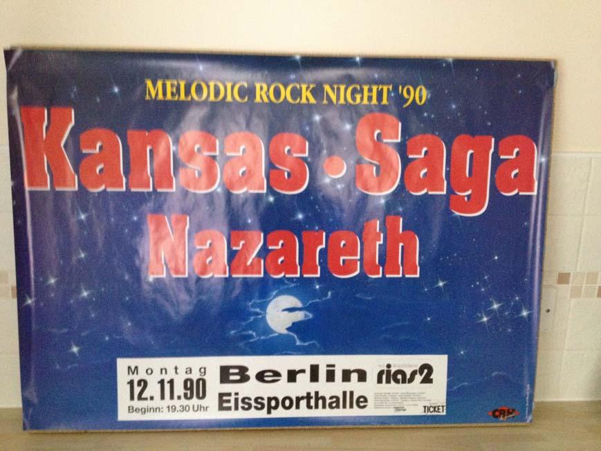 KANSAS/SAGA/NAZARETH - MELODIC ROCK NIGHT 1990