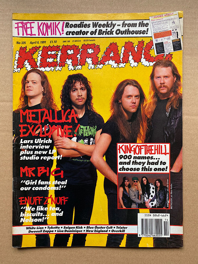 METALLICA - Kerrang No.335