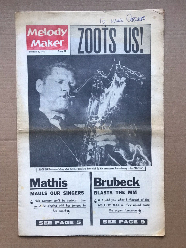 ZOOT SIMS - MELODY MAKER