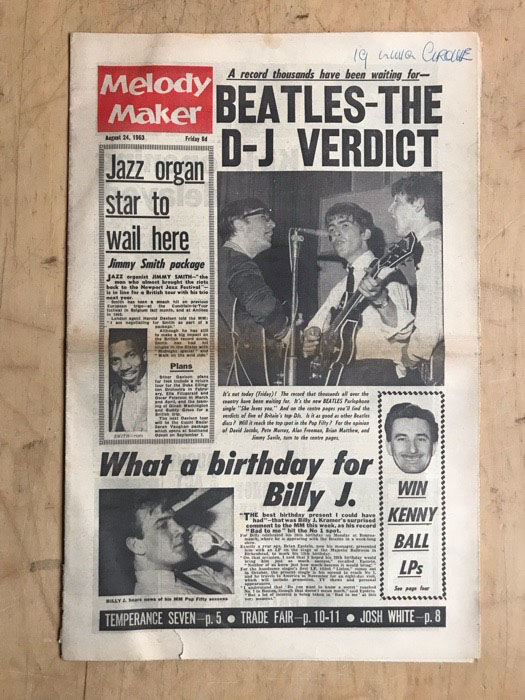 beatles melody maker