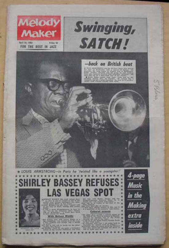 LOUIS ARMSTRONG - MELODY MAKER - Magazine