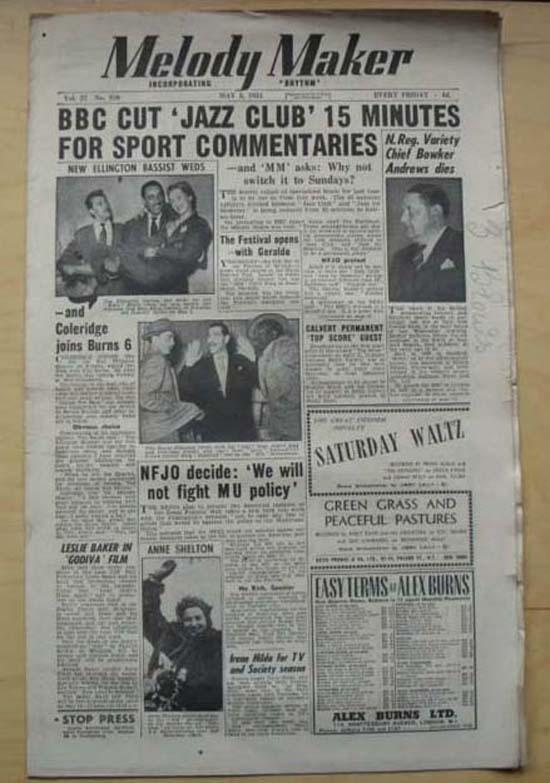 VARIOUS JAZZ 1951 - MELODY MAKER - Magazine