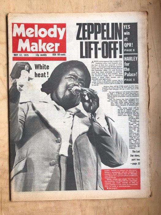 BARRY WHITE/LED ZEPPELIN - MELODY MAKER - Magazine