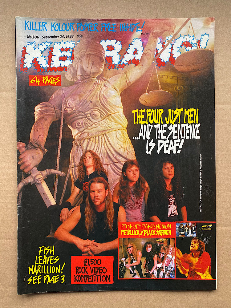 METALLICA - Kerrang No.206